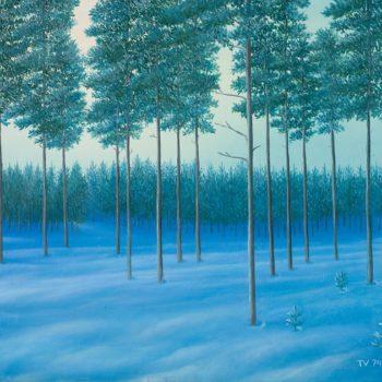 Talvine männimets. 1974a, õli, lõuend. 67,3 x 73,2 cm